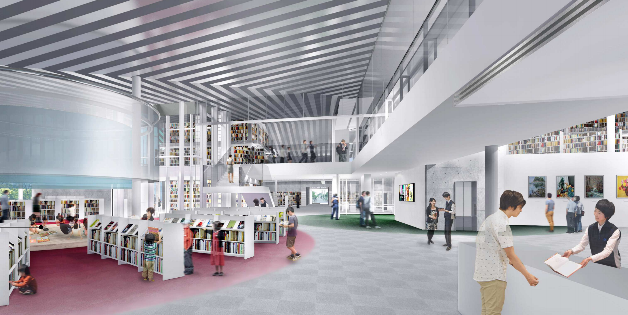新 野々市市立図書館のブックタワーが凄い!   金沢まちゲー ...